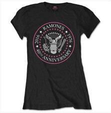 Ramones 40th anniversary pink seal Camiseta Licencia Oficial Manga Corta ladies