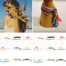 Summer Bohemian Tassel Women Millet Seed Bead Friendship Bracelet Fashion Beach