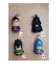 MEMORIA PENDRIVE USB 8GB DARTH VADER SUPERMAN BATMAN CAPITAN AMERICA ORIGINAL