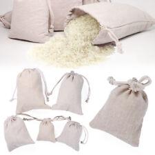 Cotton Plain Jute Gift Bags Drawstring Pouch Wedding Favor Candy Organizer