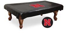 Nebraska Pool Table Cover w/ Cornhuskers Logo - Black Vinyl