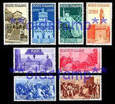 ITALIA 1946 Avvento della Repubblica singoli, serie e quartine 8v. ** e Usati