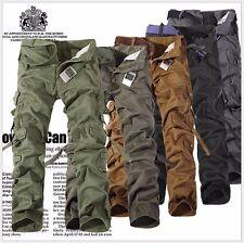 NEU Herren Army Style Pure Vintage Men Cargohose lang lose Militär Cargo Hose