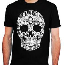 Hi-OCTANE Teschio T-shirt da uomo S-2XL biker metal rock Fuorilegge Moto Cafe Racer