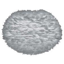 VITA Eos Large Lampenschirm grau aus Gänsefedern 65 x 40 cm Lampe light grey