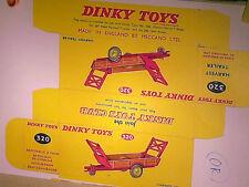 REPLIQUE BOITE REMORQUE FOURAGERE HARVEST 1954/66 DINKY TOYS