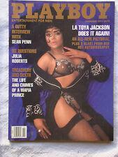 Original Playboy Magazine November 1991 LaToya Jackson Tonja Christinsen