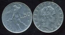 ITALIE  ITALY  50 lire 1957