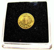 1 Pfennig / Glückspfennig - 24 Karat vergoldet zum Geburtstag / Hochzeitstag