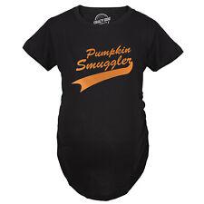 Maternity Pumpkin Smuggler Funny Fall T Shirt Cute Halloween Pregnancy Tee