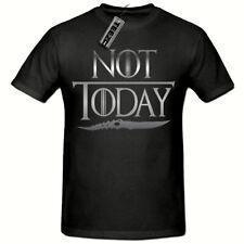 Not Today T Shirt, Arya Stark T Shirt, Game Of Thrones T Shirt,(Silver Slogan)