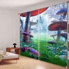 Alice Wonderland Party 3D Blockout Photo Printing Curtains Draps Fabric Window