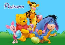 Puzzle Winnie L'Ourson V4 Disney personnalisé avec prénom