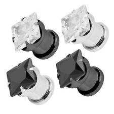 Flesh ORECCHIO Piercing tunnel plug acciaio inox chiusura avvitabile