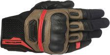 Alpinestars HIGHLANDS Mesh/Leather Riding Gloves (Black/Brown/Red) Choose Size