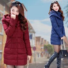2018 Fashion New Women Long Puffer Jacket Winter Quilted  Coat  Puffer Coat