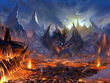 Valakas Lineage 2 Dragon LA 2 MMO Video Game Art HUGE GIANT PRINT POSTER