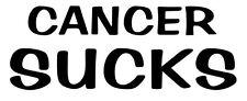 CANCER SUCKS VINYL DECAL STICKER BREAST CANCER CHOOSE COLOR