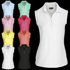 01f7801e50ede Damen Poloshirt Polo Shirt Polohemd Hemd Top Sport Kleidung Ärmellos XS-XXL