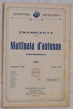 FRASSINETT MATTINATA D'AUTUNNO 1929 MUSICA SPARTITI