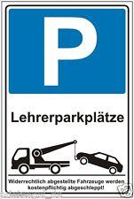 Lehrerparkplätze,Parkplatzschild,Parkschild Hinweisschild,P197+