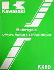 Genuine Kawasaki Kx 60 B3 Owners Manual And Race Preparation And Tuning 1987