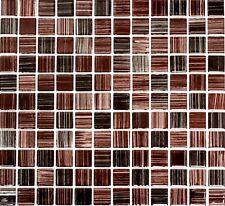 Mosaiksteine Glasmosaik strich braun- Art: 64-1309_f