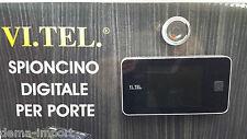 SPIONCINO VISORE DIGITALE VI.TEL 372  PORTE BLINDATE  SCHERMO LCD CROMO BICOLORE