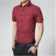 New Luxury Men Dress Shirts Casual Stylish Slim Fit Skull head 4Colors6SizeDT101