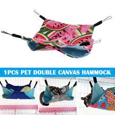 Pet Hamster Rat Hammock Double Layer Canvas Hammock Ferret Hanging Bed Cushion