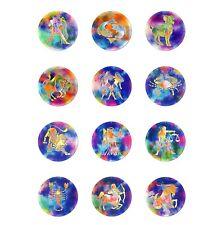 Auswahl 12 Sternzeichen Nr. 01.bis Nr. 12. Ø 20cm Fensterbilder Glas Lichtfänger