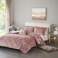 Luxury Blush Pink Lush Velvet Comforter Set AND Decorative Pillow