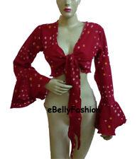 Belly Dance  TIE & DYE Cotton Top  Long Wrap Choli Gypsy haut Blouse