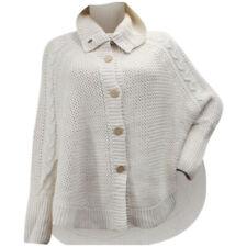 Ugg Women's Maribeth Button Front Cream Heather Knit Cape Sweater
