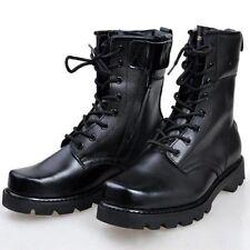 Hombres Nuevos Hecho A Mano Negro Botas Militares Hombres Bota De Combate Hombres Zapatos con cordones de largo