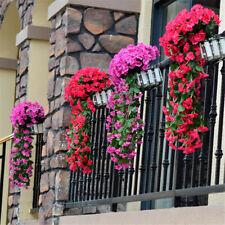 Wall Veranda Hanging Fake Violet Orchid Artificial Flowers Rattan Trailing Plant