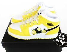Nike Air Jordan 1 Retro Mid Dynamic Yellow Floral Flower GS UK 5 6 7 US New