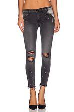 NEW J BRAND Stylish Mid Rise Crop Skinny Jeans Raw Hem Legging Remix Ripped Torn