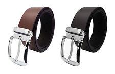 Para Hombre/Damas Cuero Real Alta Calidad Pantalones De Cintura Cinturón Formal Elegante Jeans