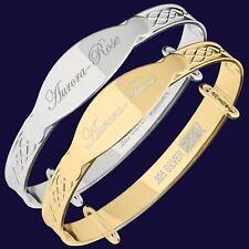 Aurora-Rose Sterling Silver Baby Bangle Bracelet Christening Jewellery Gift
