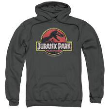 Jurassic Park Action Film Steven Spielberg Stone Logo Adult Pull-Over Hoodie