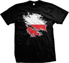 Poland Shred Flag Polish Pride Polska Flaga Duma Mens T-shirt