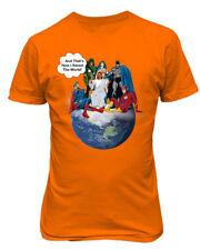 Jesus & Superheroes DC Thats How I Saved The World Christian Earth Funny T-Shirt