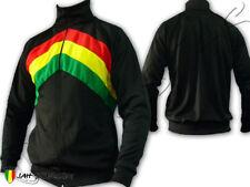 Rasta Reggae Jacket Jumper Rastafarian Peace & Love Jamaica Jah Star Line