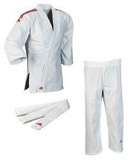 """adidas Judo-Anzug """"Club"""" weiß/rote Streifen, J350 - Judoanzug - Judogi - Judo Gi"""