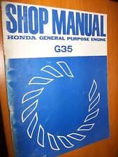 Honda G35 Moteur : SHOP MANUAL