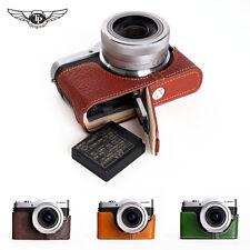 【TP】 EZ Access Camera Case for Panasonic LUMIX GF9 GX800 GX850 Genuine Leather