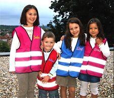 Kinder Funktionsweste Warnweste Sicherheitsweste Schutzweste mit eigenem Namen