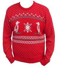 Jersey para hombre de las Señoras de Invierno Suéter De Navidad Navidad Pingüino Fairisle S M L XL XXL
