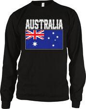 Australia Flag Colors Font Australian Soccer Heritage Born From Au Men's Thermal